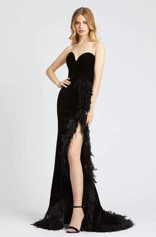Mac Duggal Prom - 67287M Strapless Feathered Trumpet Dress
