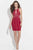 Madison James - 17-504 Beaded Halter Sheath Dress Special Occasion Dress 2 / Red