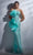 MNM Couture - G1287 Strapless Shirred Ruffle Accented Gown Evening Dresses 2 / Aqua
