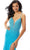 Mori Lee - 46011 Fitted V-Neck High Slit Beaded Jersey Dress Prom Dresses