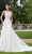 Mori Lee Bridal - 5806 Shani Frosted Lace On English Net Ballgown Wedding Dresses 0 / Ivory/Rosé
