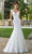 Mori Lee Bridal - 5815 Shirley Lace Net Petal Train Mermaid Gown Wedding Dresses 2 / Ivory/Blush
