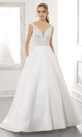 Mori Lee Bridal - 5867 Adele Wedding Dress Wedding Dresses 0 / Ivory/Honey