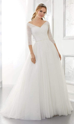 Mori Lee Bridal - 5880 Amelia Wedding Dress Wedding Dresses 0 / Ivory