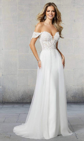 Mori Lee Bridal - 6922L Scout Applique Overskirt Wedding Gown