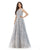 Morrell Maxie - 16234 Beaded Floral A-Line Evening Gown Special Occasion Dress 4 / Silver