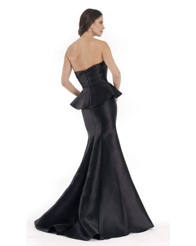 Morrell Maxie - Strapless Asymmetric Mermaid Dress 15635 CCSALE 14 / Black