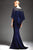 Park 108 - M167 Bead-Crusted Bateau Neck Cape Gown Special Occasion Dress