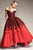 Park 108 - M315 Floral Embroidered Pleated Ballgown Special Occasion Dress 2 / Wine/Black