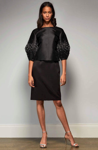 Park 108 - M337 Embellished Bell Sleeve Sheath Dress