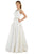 Poly USA - 8044 Beaded Scoop Jacquard A-line Gown Formal Gowns