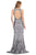 Poly USA - 8438 Sequined Halter Neck Trumpet Dress Evening Dresses