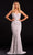 Portia and Scarlett - PS21502C Embellished V Neck Trumpet Dress Prom Dresses 0 / Ivory