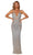 Portia and Scarlett - PS5020C Bedazzled Deep V-Neck Fitted Dress Prom Dresses