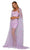 Portia and Scarlett - PS6018 Embroidered Fitted Dress With Cape Prom Dresses