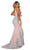 Portia and Scarlett - PS6071 Jeweled Lace Appliqued High Slit Gown Prom Dresses