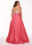 Rachel Allan - Beaded V-neck Taffeta Ballgown 6696 - 1 pc Coral In Size 20W Available CCSALE 20W / Coral