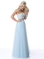 A-line Strapless Applique Floor Length Straight Neck Natural Waistline Dress