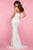 Sherri Hill - 53345 High Slit Straight Neck Strapless Lace Dress Prom Dresses