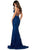 Sherri Hill - 53364 Plunging Lace Up Back Fitted Lace Dress Pageant Dresses