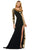 Sherri Hill - 53467 Cut Glass Long Fitted Dress Prom Dresses 00 / Black/Gold