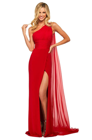 Sherri Hill - 53576 Long One Shoulder High Slit Dress
