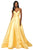 Sherri Hill - 53661 V-Neck Spaghetti Strapped Taffeta Dress Evening Dresses