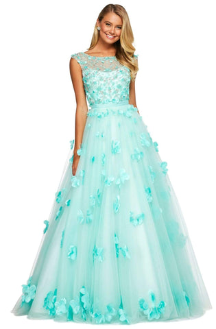 Sherri Hill - 53684 Bateau Beaded Ballgown Dress