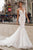 Tarik Ediz - 50406 Floral Lace Mermaid Dress With Train Wedding Dresses 2 / Ivory