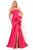 Tarik Ediz - 50700 Strapless Ruffled Trumpet Dress Evening Dresses 0 / Red Rose
