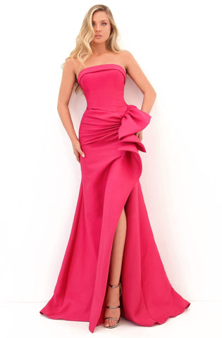 Tarik Ediz - 50700 Strapless Ruffled Trumpet Dress