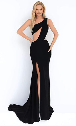Tarik Ediz - 50861 Asymmetrical Cutout High Slit Dress