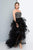 Terani Couture - 1811P5820 Bedazzled Strapless Tulle High Low Dress Special Occasion Dress 0 / Black Nude