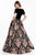 Terani Couture - 1821E7116 Off-Shoulder Velvet Tapestry Ballgown Ball Gowns