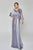 Terani Couture - 1922M0531 Embellished Bateau Long Sheath Dress Mother of the Bride Dresses 0 / Platinum