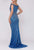 Terani Couture - 2011GL2209 Contrast-Beaded Off Shoulder Long Gown Pageant Dresses