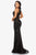 Terani Couture - 2011P1058 Sequined Illusion Gown with Slit Evening Dresses