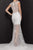 Terani Couture - 2011P1126 Foliage Beaded Cap Sleeve Mermaid Gown Evening Dresses