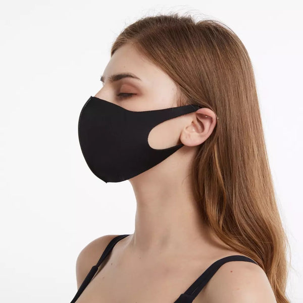Unisex Washable & Reusable Face Mask - Black