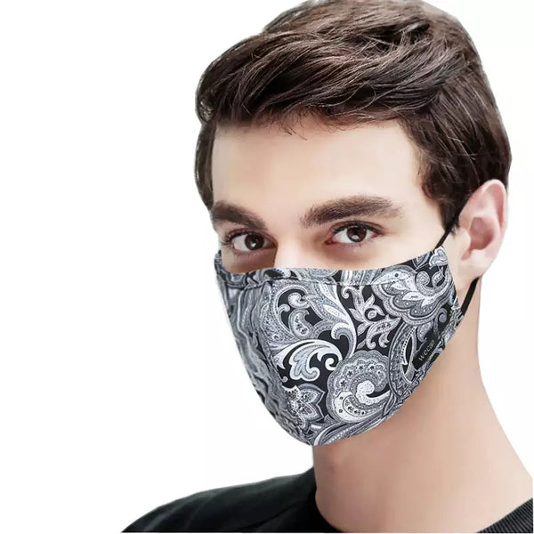 Men's Fabric Face Mask + Activated Filters - Black