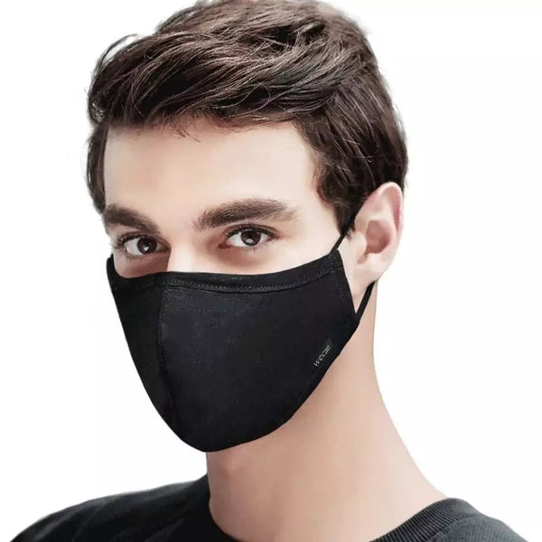 Men's Fabric Face Mask + Activated Filters - Plain
