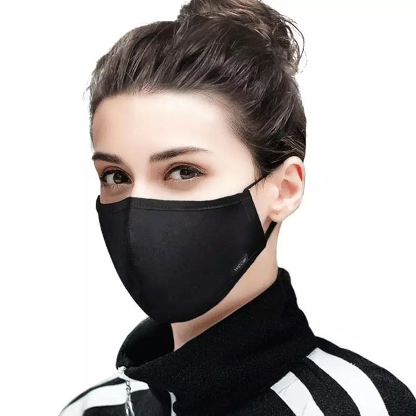 Women's Fabric Face Mask + Activated Filters - Plain