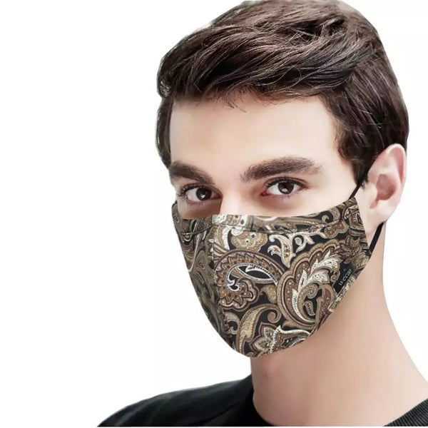 Men's Fabric Face Mask + Activated Filters - Brown