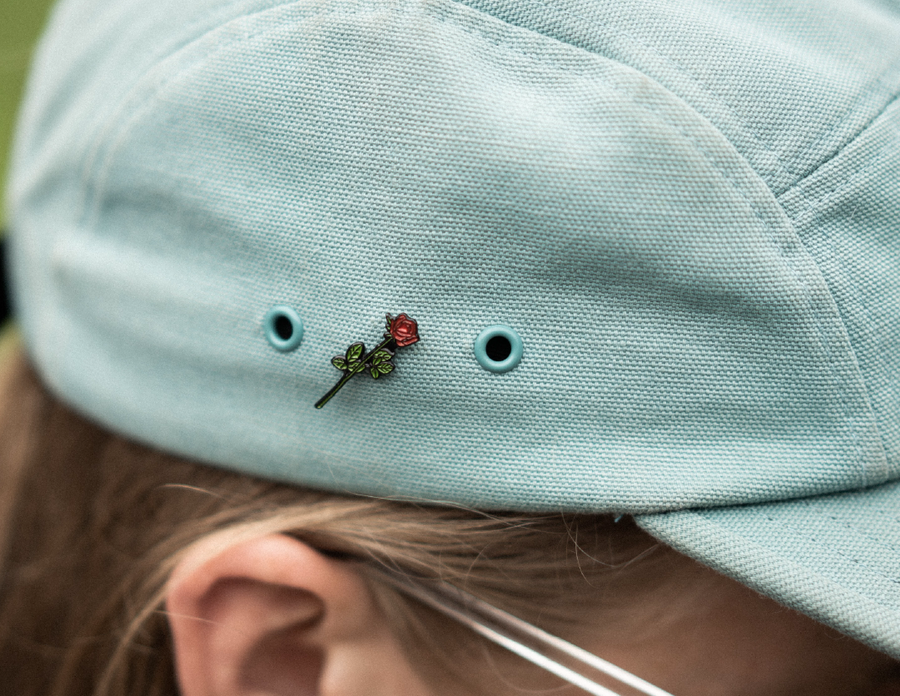 Long Stem Rose Pin