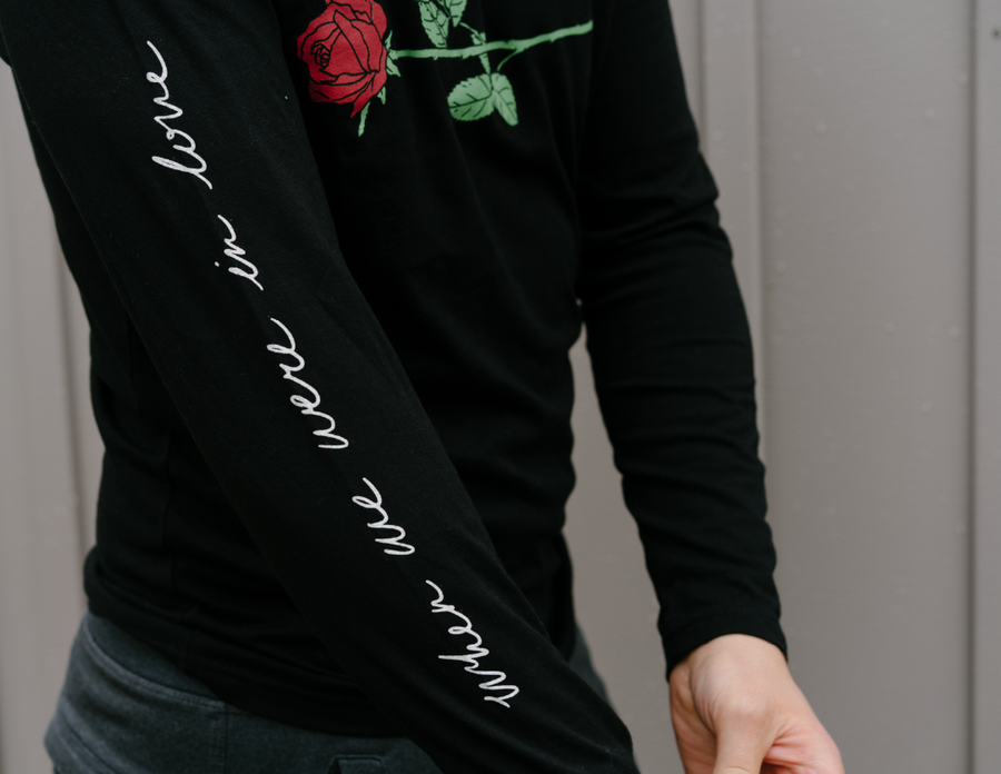 When We Were In Love Rose Long Sleeve Shirt
