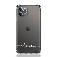 Custom Anita Font Anti Impact Clear Case