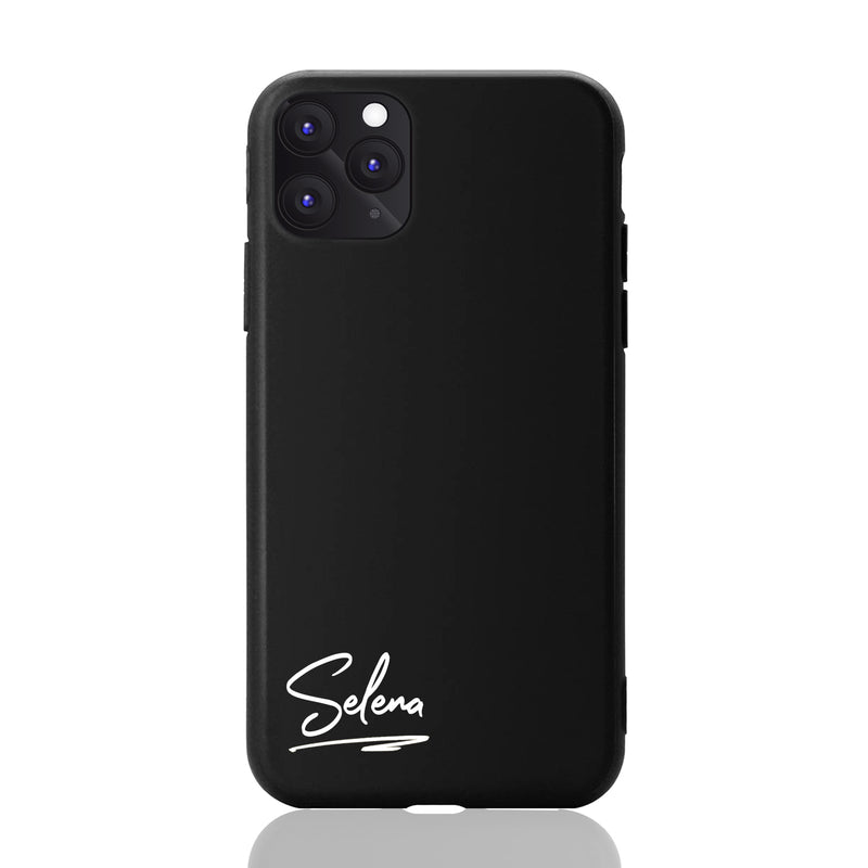 Selena Font Matte Black iPhone Case