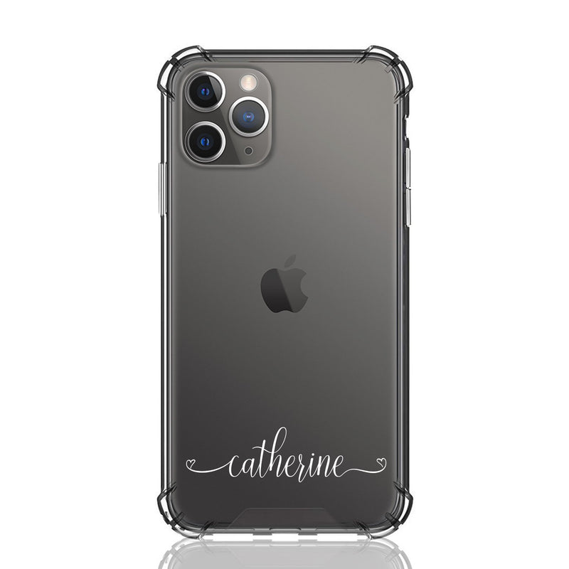 Custom Personalised iPhone Anti-Impact Case ~ Catherine Script Font
