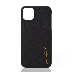 Custom Personalised Leather iPhone Cases ~ Samantha Script Font
