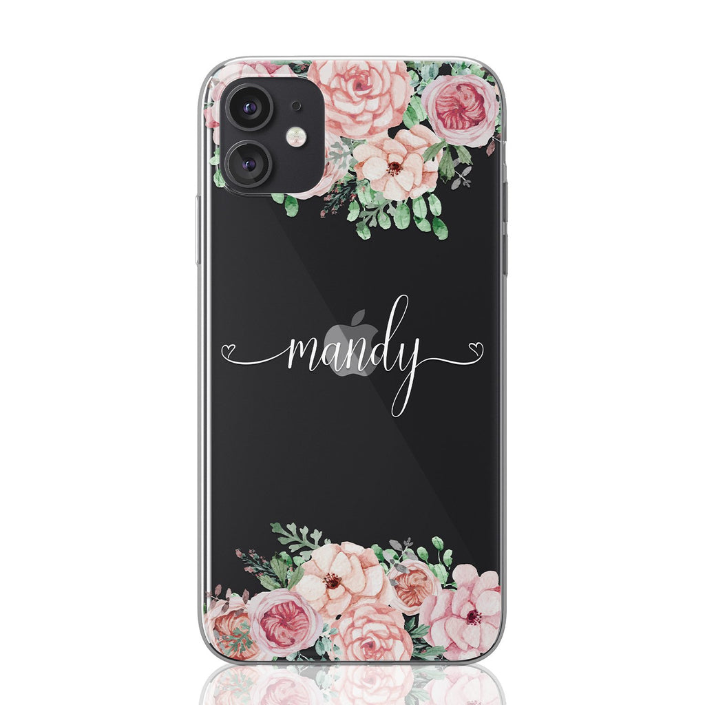 Custom personalised flower iPhone case